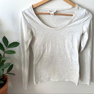F21- Basic Scoop Neck Long Sleeve